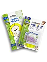Baby Buddy Wipe-N-Brush Toothbrush and Dental Wipes, Pink (Pack of 2)