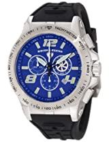 Swiss Legend Men's 10040-03 Sprint Racer Stainless Steel and Silicone Blue Dial Watch
