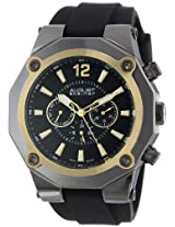 August Steiner Men's AS8080YG Swiss Multi-Function Gold-Tone Silicone Strap Watch