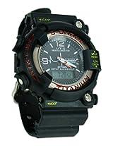 Gee Sports Watch S Showy Black Dial Round Watch