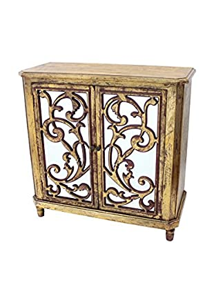 Teton Home Wood Cabinet, Gold