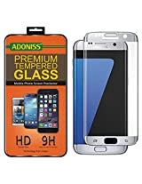 Adoniss Premium Curved Tempered Glass Screen Protector For Samsung Galaxy S7 edge silver