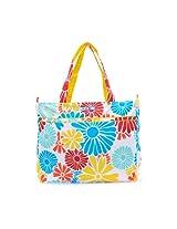 Ju-Ju-Be Super Be Zippered Diaper Bag Tote (Flower Power)