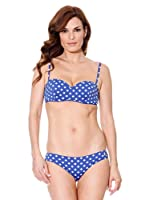 Cortefiel Bikini Bustier (Azulón)