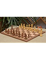Chessbazaar Combo Of Staunton Chess Pieces & Walnut Maple Board