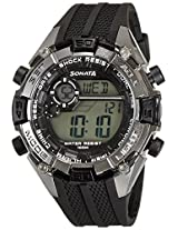 Sonata Ocean Series III Digital Grey Dial Unisex Watch - 77026PP01J