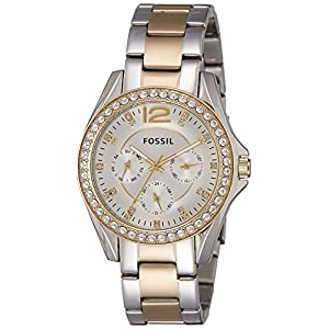 Fossil Riley Analog Silver Dial Women's Watch - ES3204