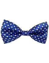 Baawre Men's Polka Dot Satin Bow Tie (Royal Blue)