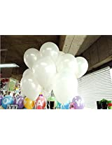 GrandShop 50250 Balloons Metallic HD Finish White (Pack of 50)