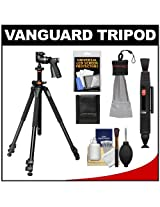 Vanguard Alta Pro 263AT Aluminum Alloy Tripod with Multiple Angle Central Column, GH-100 Grip Head and Case plus Accessory Kit