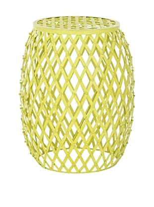 Safavieh Evan Iron Strips Welded Stool, Matte Yellow