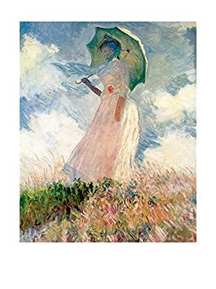 LegendArte  Wandbild Frau mit Sonnenschirm von Claude Monet