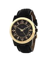 Svviss Bells Mesmerizing Black Gold Dial Black Watch
