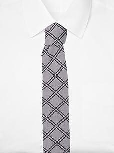 Ivy Prepster Men's Spellman Argyle Knit Tie (Ash/Black)