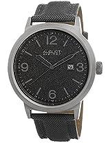 August Steiner Men's AS8088GY Grey Stainless Steel Canvas Strap Watch