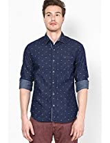 Solid Navy Blue Casual Shirt
