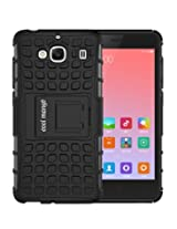 Xiaomi Redmi 2 Prime Protective Case / Back Cover : Cool Mango Premium Dual Layer Armor Protection Case Cover with Kickstand for Xiaomi Redmi 2 Prime - Black