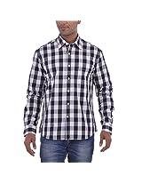 Barrier Reef Men's Slim Fit Shirt(Rubine,M)