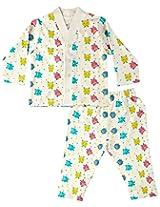 Infant Boys Monster Print Night Wear Set, Multi Colour (0-6 Months)