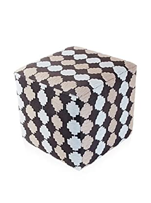 Better Living Collection Checkerboard Suzani Square Ottoman