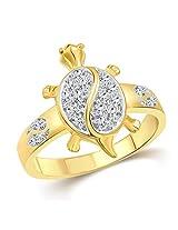 Vighnaharta Tortoise Gold and Rhodium Plated Ring - [VFJ1097FRG10]