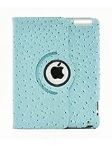 LiViTech(TM) Ostrich Design Series 360 Rotating PU Leather Case Smart Cover for Apple iPad Air, iPad 5 (iPad 4 3 2, Blue)