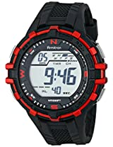 Armitron Sport Men's 40/8327RED Fitness Watch with Black Resin Band