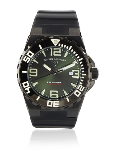 Swiss Legend Men's Expedition Black/Green Silicone Watch