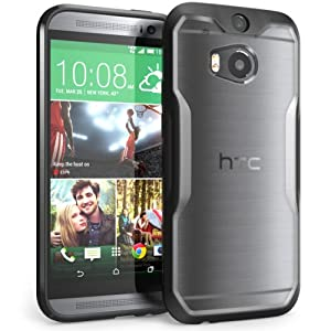 SUPCASE All New HTC One M8 Case - Unicorn Beetle Premium Hybrid Protective Case for HTC One 2014 (Frost Clear/Black)