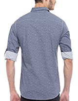 SPYKAR Men Cotton Ink.Blue Casual Shirt (XX-Large)