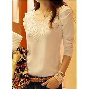Onlyurs 2014 New Female Long-sleeved T-shirt Blouses Small Shirt Slim Yards L...