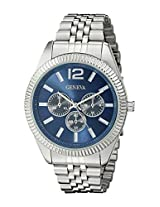 Geneva Men's FMDJM530 Analog Display Quartz Silver Watch
