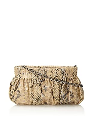 Inge Christopher Women's Clare Leather Facile Clutch, Natural