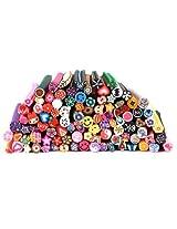 Bundle Monster 100 Pc 3D Designs Nail Art Nailart Manicure Fimo Canes Sticks