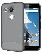 TUDIA Ultra Slim Full-Matte ARCH TPU Bumper Protective Case for Nexus 5X (2015) (Gray)