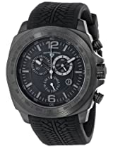 "Swiss Legend Men's ""Sprinter"" Black Ion-Plated Stainless Steel and Black Silicone Watch"