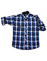 LITTLE MAN Cotton Boy's Shirt (LM10C1_16 , Blue, 16)
