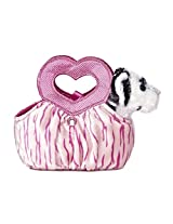 Aurora World Fancy Pals Plush Toy Pet Carrier, White Tiger Jungle Love