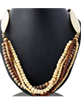 Exotic India Multi-color Beaded Necklace -