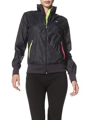 New Balance Women's Diagonal Stripe Jacket (Black)