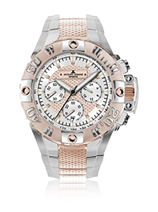Jacques Lemans Quarzuhr Powerchrono 08 1-1377 silber/roségold 44 mm