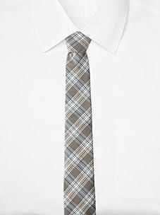 Original Penguin Men's Clarkston Plaid Tie, One Size (Taupe)