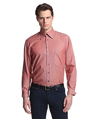 Lipson Shirtmakers Men's Micro Gingham Shirt (Ruby)