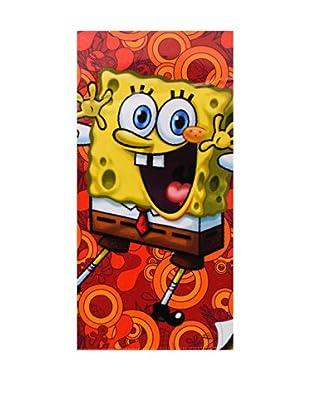 Nickelodeon Toalla de Playa Terciopelo Bob Esponja (Multicolor)