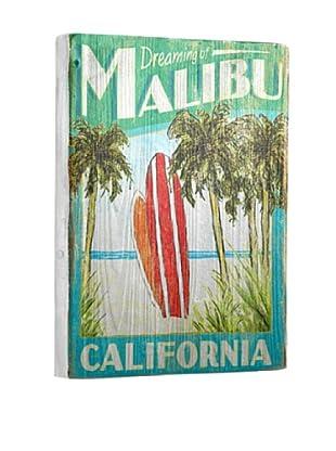 Artehouse Dreaming of Malibu Reclaimed Wood Sign