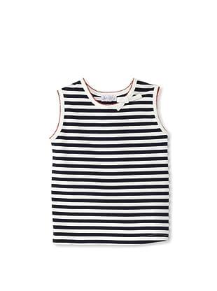 Rachel Riley Girl's Striped Top (Ivory/Navy)