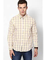 Yellow Full Sleeve Casual Shirt Peter England