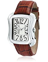 Morellato Brown Leather Men Analog Watch - SO2OE004