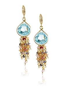 Leslie Danzis Gold Faceted Earrings