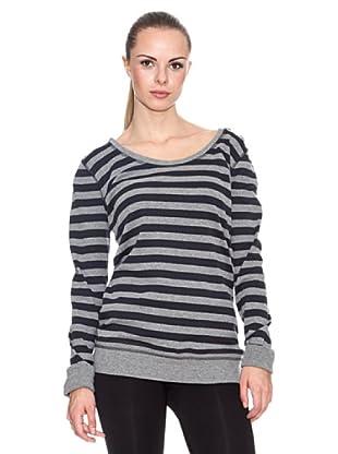 Elle Sports Camiseta Yarn (Gris / Marino)